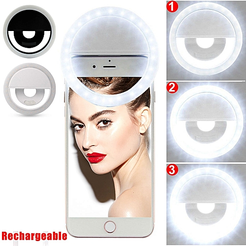 Selfie Ring Light (Rechargeable) For All Smart Phones