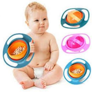 360 Rotate Gyro Bowl For Children Multicolor