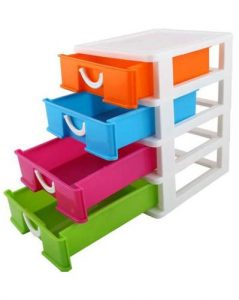 4 Layers Storage Drawer 20.30 X 16.50 Cm Multicolor