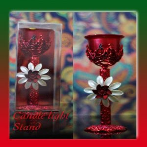 Candle Stand Candle Holder Decorative Red Candlestand Candlelight Dinner Event Wedding Candelabra