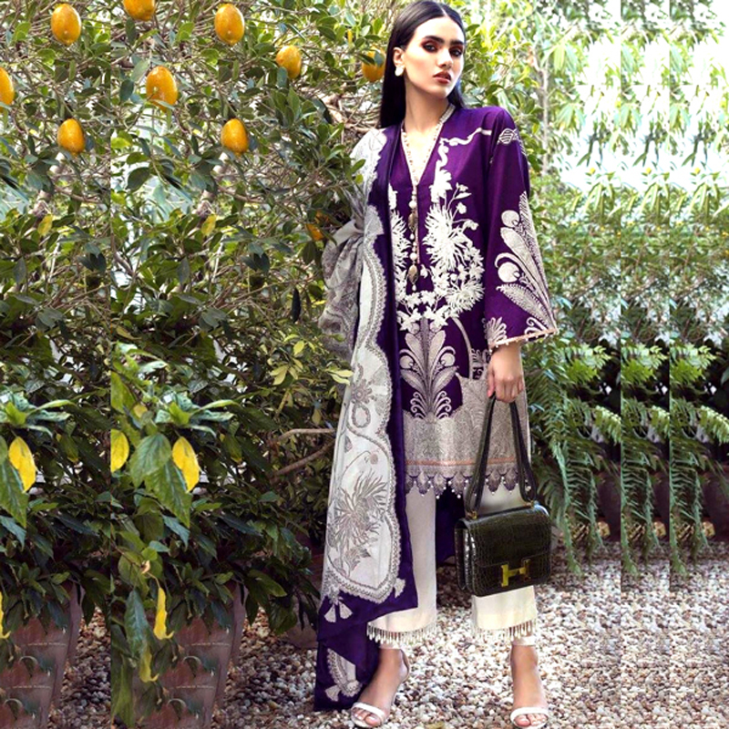 Lawn Front Back Embroidery Printed Suit (DM SS 611 B) 0