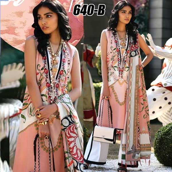 Special Summer Deal Of 4 Embroidery Lawn Suits 2019 Design 640B