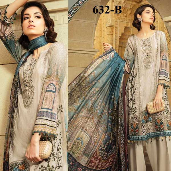 Special Summer Offer Pack Of 3 Embroidery Lawn Suits 2019 Design 632 B