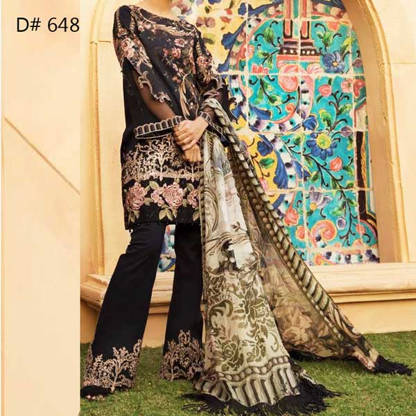 Super Deal Pack Of 3 Embroidery Lawn Suits 2019 (Design 648