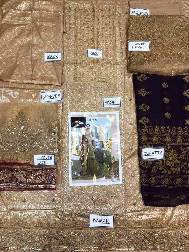 Embroidery Lawn Suit With Chiffon Dupatta & Lawn Trouser (DM MB 652 B) 0