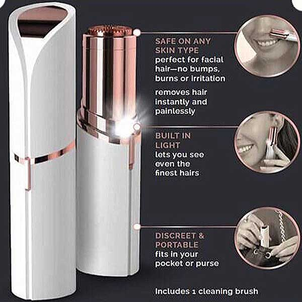 Flawless Women Painless Hair Remover Face Facial Hair Remover 2