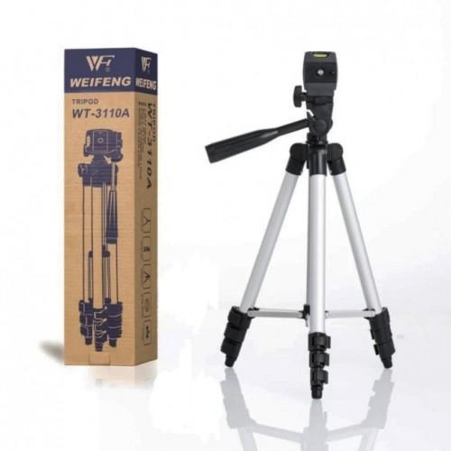 Tripod Stand With Holder For Camera And Mobile