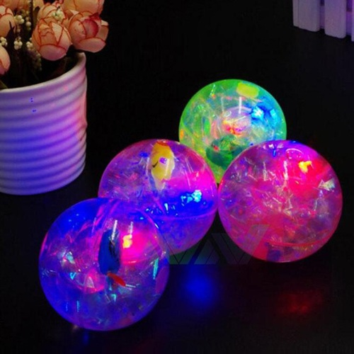 4 Piece Of Flashing Light Rubber Bouncing Ball Toys For Kids