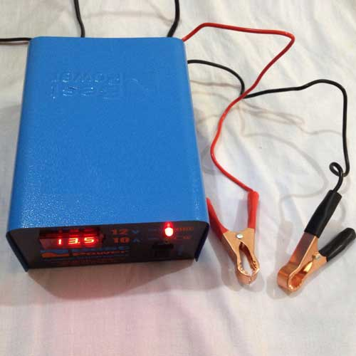 Full Automatic 12 Volt 10 Amp Digital Battery Charger Black 1