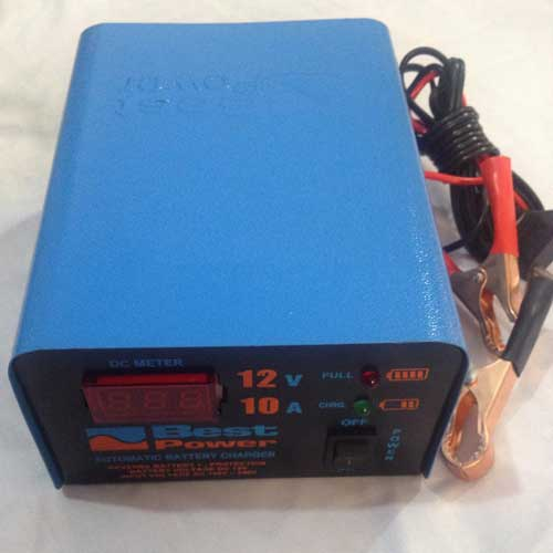 Full Automatic 12 Volt 10 Amp Digital Battery Charger Black