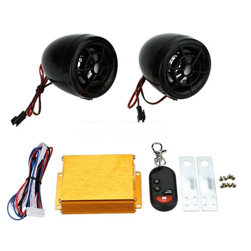 Motorcycle MP3 Player Speakers (USB And Memory Card)