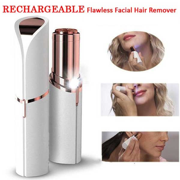 RECHARGEABLE Flawless Women Painless Face Facial Hair Remover 2